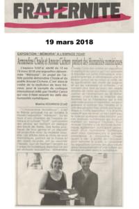 Fraternité 19 mars 2018